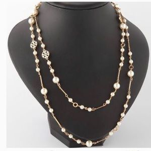 Nwot tory burch convertible pearl necklace